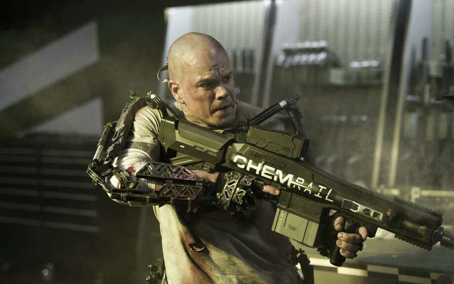 "Matt Damon stars in a scene from ""Elysium,"" one of many video releases in December. Photo: TriStar / Columbia Pictures-Sony / TriStar, Columbia Pictures-Sony"