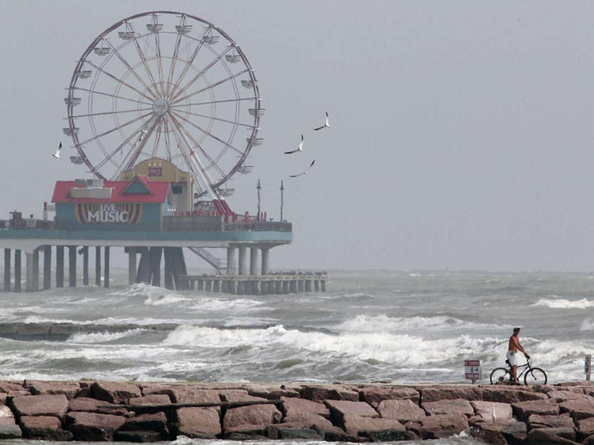 Galveston seawall and Boardwalk.