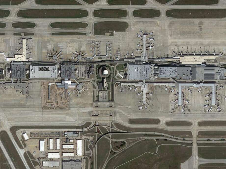 George Bush Intercontinental Airport, as seen from above.