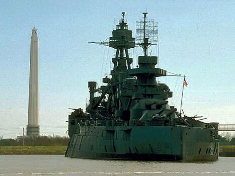 San Jacinto Monument and Battleship Texas.