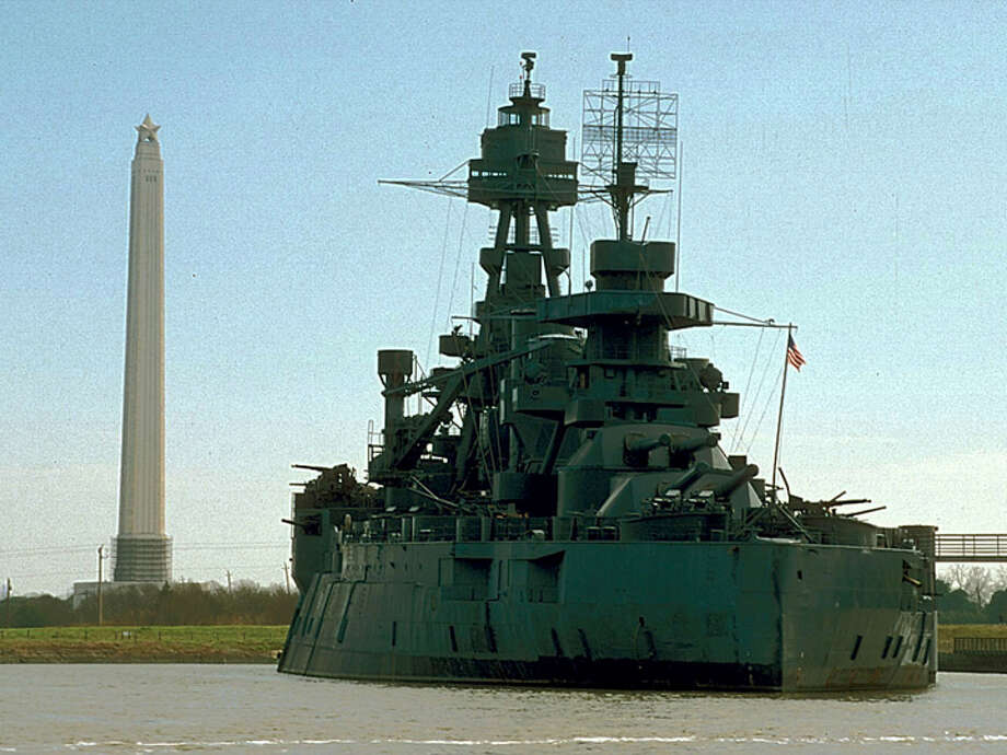 San Jacinto Monument and Battleship Texas.