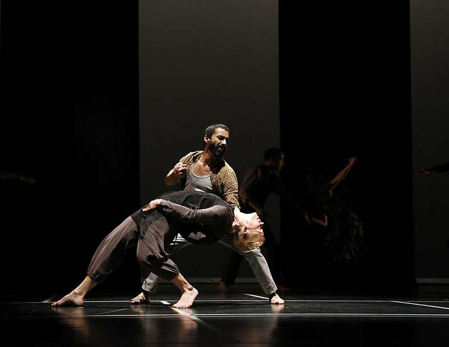 "Erick Montes Chavero and Jennifer Nugent perform in Bill T. Jones and Anne Bogart's ""A Rite."" Photo: Paul B. Goode, Bill T. Jones/Arnie Zane Dance C"