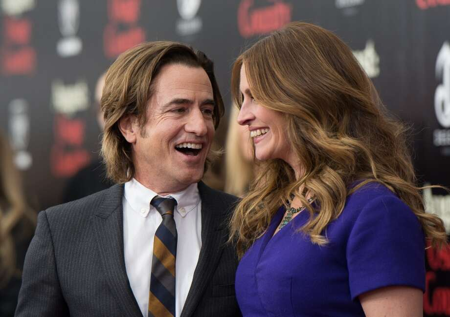 "Dermot Mulroney and Julia Roberts attend the ""August: Osage County"" premiere at Ziegfeld Theater on December 12, 2013 in New York City.  (Photo by Dave Kotinsky/Getty Images) Photo: Dave Kotinsky, Getty Images"