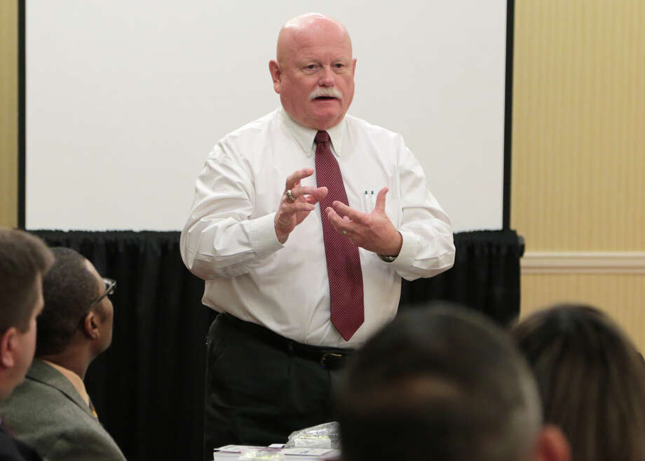 Pearland ISD trustee Virgil Gant presents at a Leadership Texas Association of School Boards session in November. Photo: Picasa