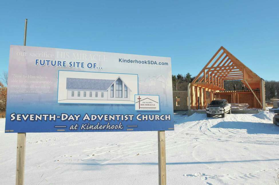 A view of the construction site where a new church is being built for the Seventh-day Adventist Church of Kinderhook is pictured Thursday, Dec. 12, 2013, in Kinderhook, N.Y. (Paul Buckowski / Times Union)