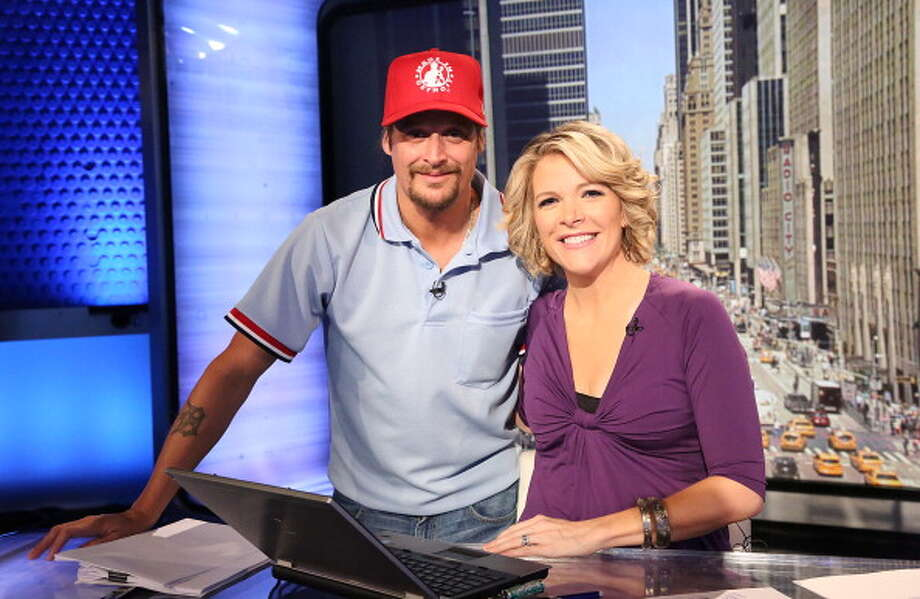 """NEW YORK, NY - JUNE 19:  Kid Rock with host Megyn Kelly visits FOX's """"America Live"""" at FOX Studios on June 19, 2013 in New York City.  (Photo by Rob Kim/Getty Images) Photo: Rob Kim, Getty Images / 2013 Getty Images"""