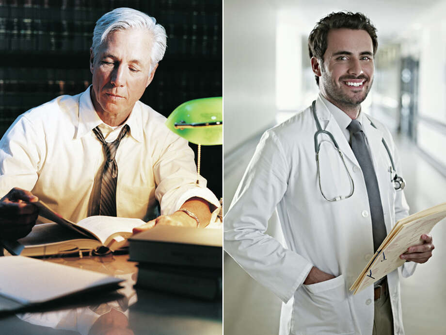 Lawyer – $163,880 Doctor – $170,290 (physicians, surgeons) Photo: Getty Images Composite