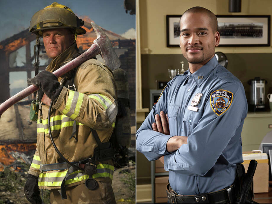 Firefighter – $49,700  Police officer – $53,810 Photo: Getty Images Composite