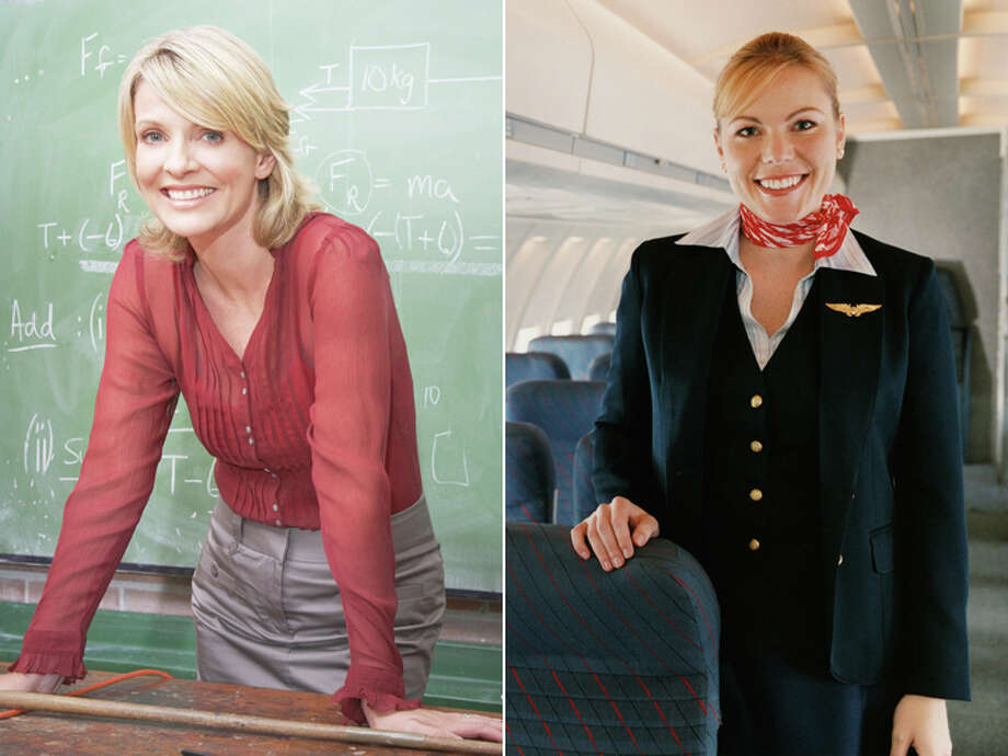 Middle School Teacher – $51,110 Flight Attendant – $43,590 Photo: Getty Images Composite