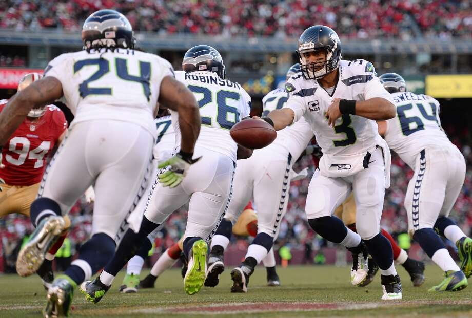 Five things to watch: Seattle Seahawks (11-2) at New York Giants (5-8)Sunday, Dec. 15 | 10 a.m. PST | MetLife Stadium, East Rutherford, N.J. | TV: FoxStill ranked No. 1 in the NFL despite their hard-fought loss in San Francisco, the Seattle Seahawks look to prove themselves this weekend against the struggling New York Giants at the Meadowlands, where the Super Bowl will be held in February. The highlight of Sunday's game in New Jersey will be Seattle's vaunted defense, ranked first versus passing, against a regressed Eli Manning who is tied for the league lead in interceptions thrown.New York's quarterback is not having a great year, nor are his Giants. With a 5-8 record, they aren't as bad as the Texans, Falcons or Redskins, but are now eliminated from the NFL playoffs. Seattle, meanwhile, has already clinched a spot in the postseason and is gunning for more. The Seahawks all but need a victory at New York to maintain a comfortable lead in the NFC West and in the race for the conference's No. 1 seed in the playoffs. Luckily for Seattle, a victory at New York is expected.The Seahawks opened in Vegas as 6.5-point favorites over the Giants. And while the Hawks are now dealing with a few damaging injuries as they head down the homestretch to the postseason, they still seem poised to win easily at MetLife Stadium. Of course, that's just the expectation -- the Seahawks and Giants will have to actually play each other on Sunday, and you never know what might happen. If Seattle is caught sleeping, thinking the Giants have nothing to play for, Sunday's tilt could quickly turn into a trap game.Click through the gallery for our top five things to watch in the Seahawks' third-to-last regular-season game. Photo: Thearon W. Henderson, Getty Images