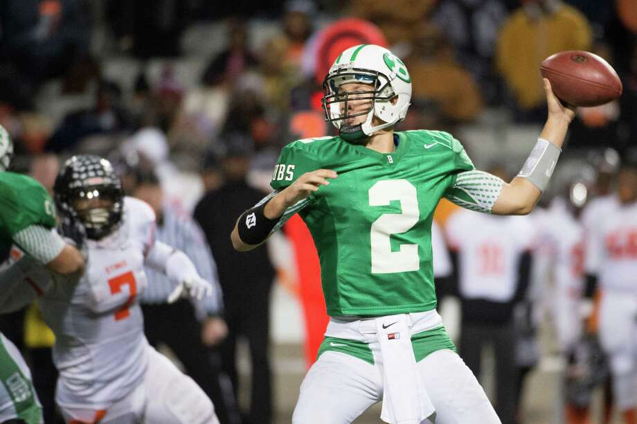 Brenham quarterback Caleb Hill has completed 120 of 198 passes for 2,062 yards over 14 games. He has thrown nine TDs during the Class 4A Division II playoffs. Photo: Smiley N. Pool, Staff / © 2013  Houston Chronicle