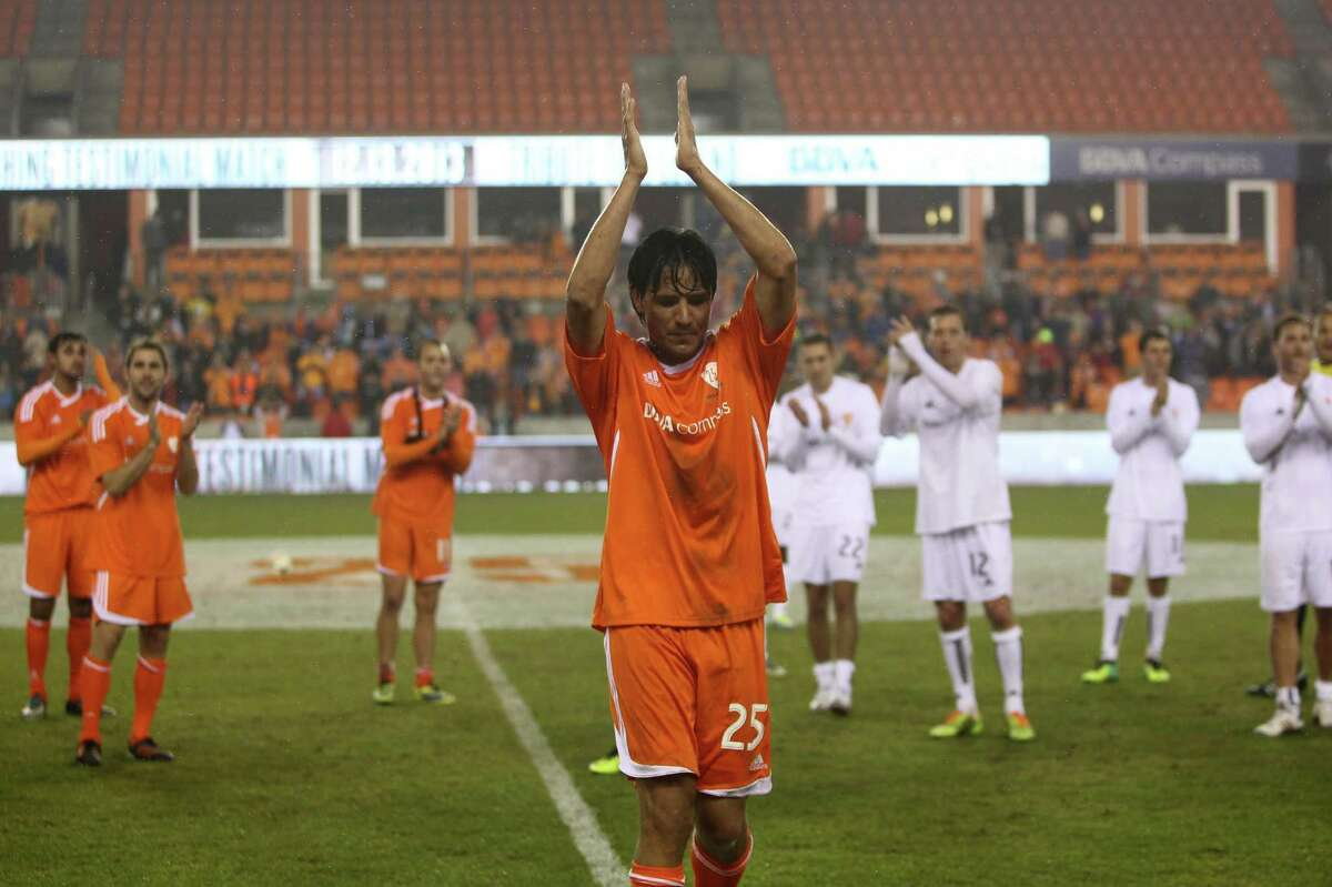 9 Brian Ching testimonial match As one of the most legendary players in club history it was fitting that Brian Ching ended his career with one more multi-goal performance in front of the home fans. In December of 2013 the Dynamo hosted a testimonial match to honor Ching's retirement. It featured players from the Dynamo's MLS Cup title teams in 2006 and 2007. Even Landon Donovan made an appearance and played goalkeeper. Ching scored five goals to lead his team to a 6-4 victory. He subbed out in the 69th minute and got a standing ovation and cheers of
