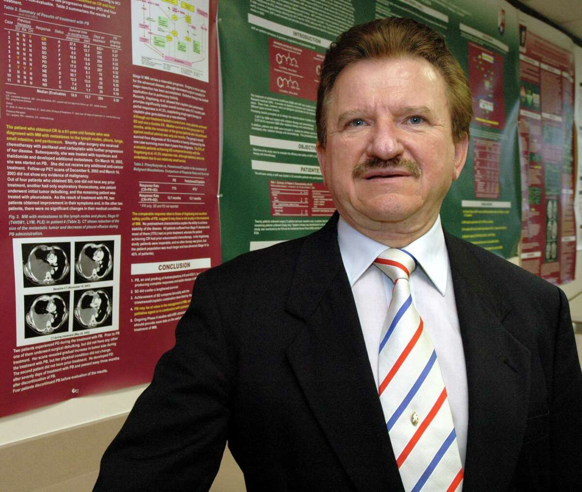 Dr. Burzynski, photographed in his clinic library, has been a controversial doctor who at one time was at heads with the FDA and now is working closely with them for government approval of his non-toxic antineoplaston drug therapy, May 12, 2005. Special to the Chronicle/Meenu Bhardwaj