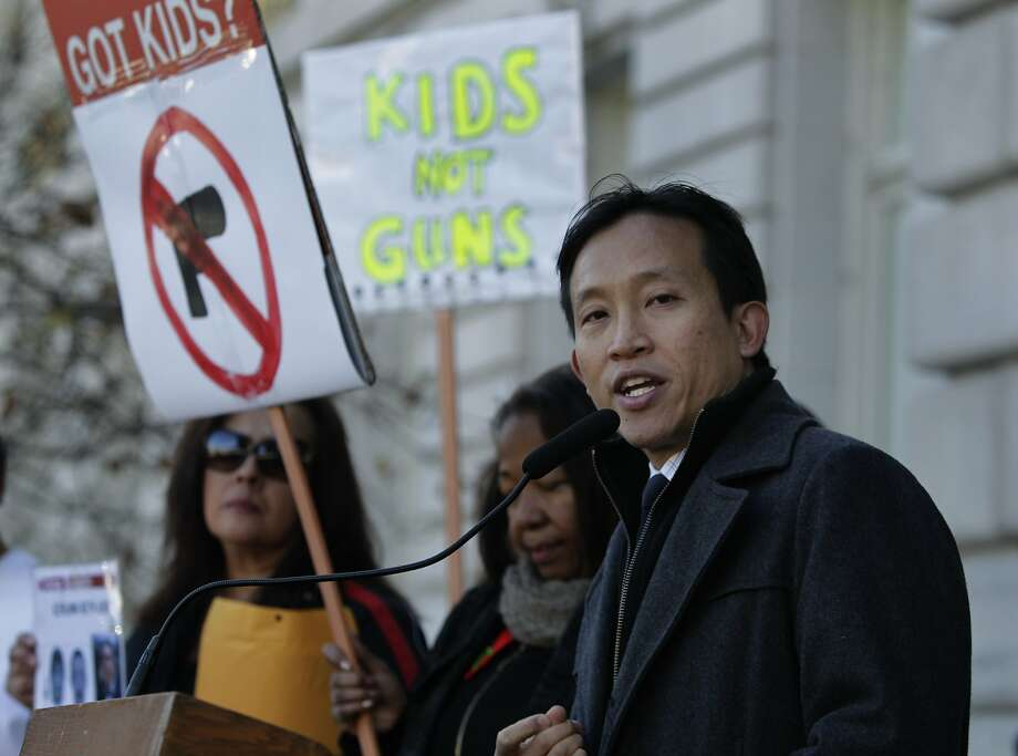 Supervisor David Chiu appears at a memorial service to mark the first anniversary of the Sandy Hook Elementary School shooting in San Francisco, Calif. on Friday, Dec. 13, 2013. Chiu is running against Supervisor David Campos for the 17th State Assembly District seat. Photo: Paul Chinn, The Chronicle