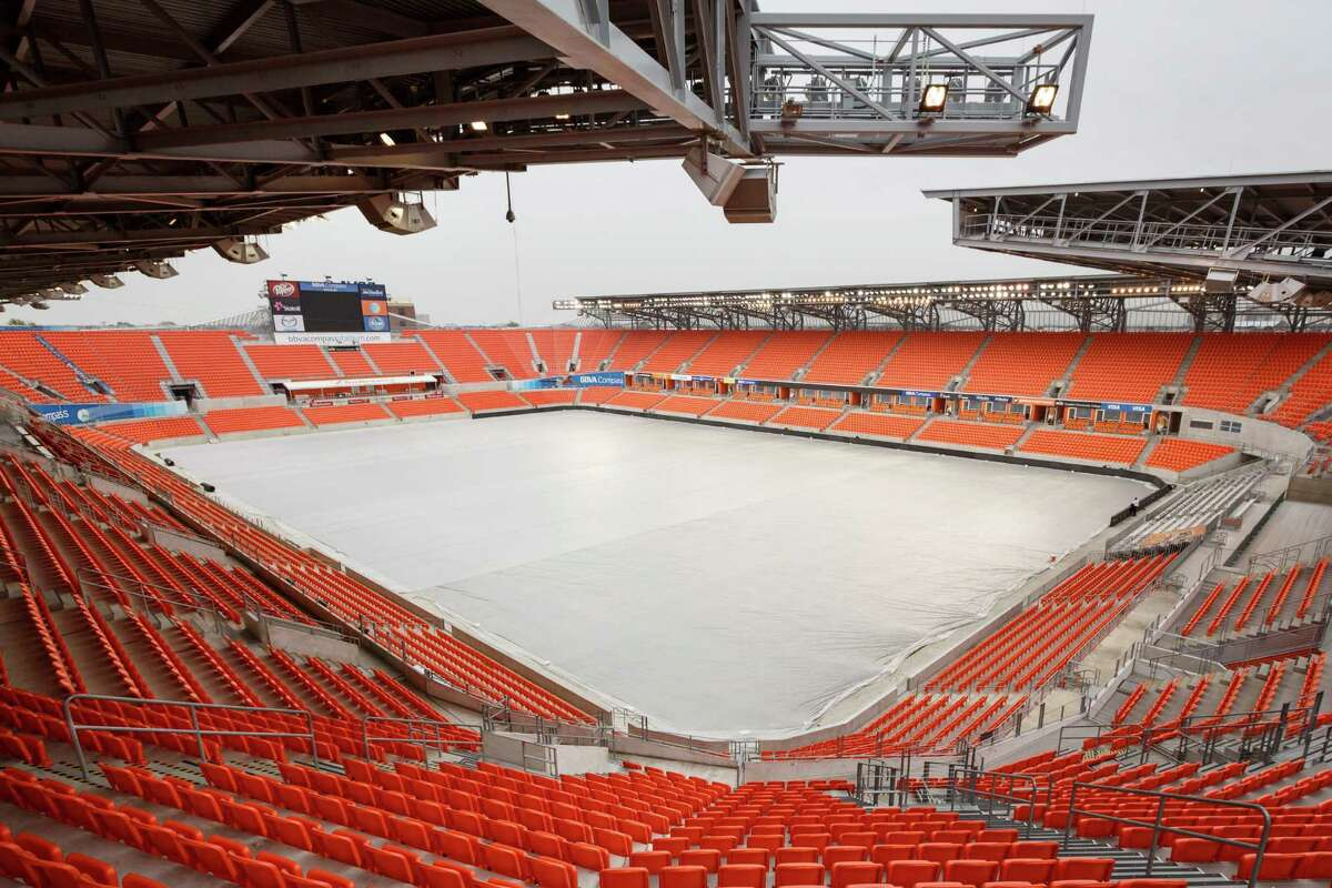 The BBVA Compass Stadium, Dec. 11, 2013, in Houston. The building is one of several real estate developments that are finalists in the Urban Land Institutes's 2013 Development of Distinction Awards. ( Michael Paulsen / Houston Chronicle )