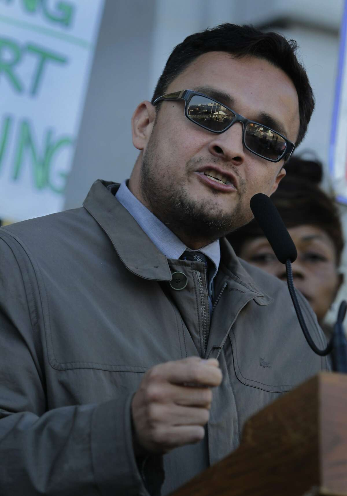 Supervisor David Campos appears at a memorial service to mark the first anniversary of the Sandy Hook Elementary School shooting in San Francisco, Calif. on Friday, Dec. 13, 2013. Campos is running against Supervisor David Chiu for the 17th State Assembly District seat.