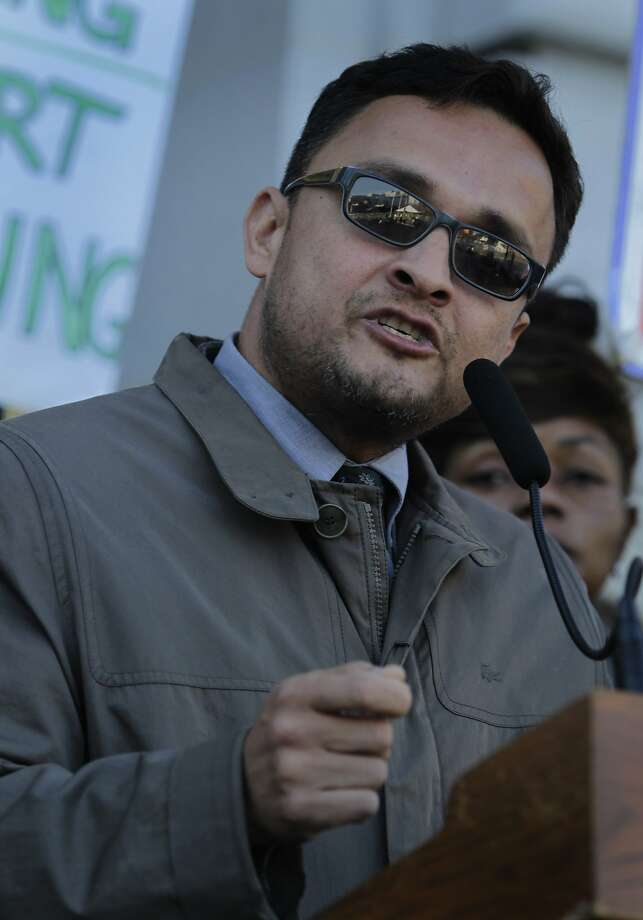 Supervisor David Campos appears at a memorial service to mark the first anniversary of the Sandy Hook Elementary School shooting in San Francisco, Calif. on Friday, Dec. 13, 2013. Campos is running against Supervisor David Chiu for the 17th State Assembly District seat. Photo: Paul Chinn, The Chronicle