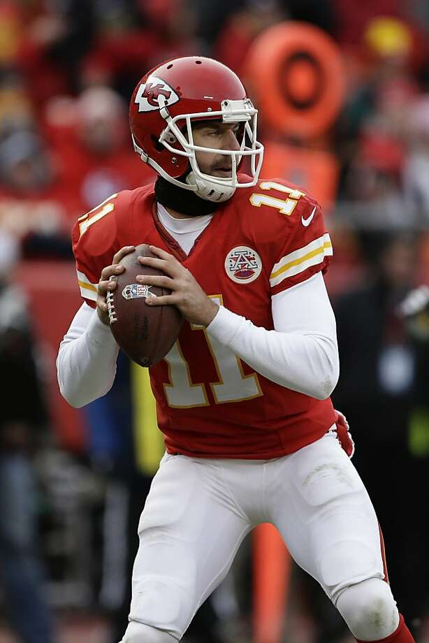 Former 49ers quarterback Alex Smith has the Chiefs on track for a playoff spot. Photo: Charlie Riedel, Associated Press