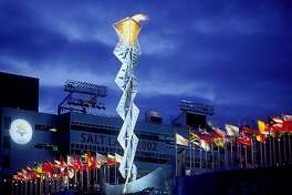 The Olympic Cauldron at Rice-Eccles Stadium in Salt Lake City is one of the attractions remaining from the 2002 Winter Olympic Games.