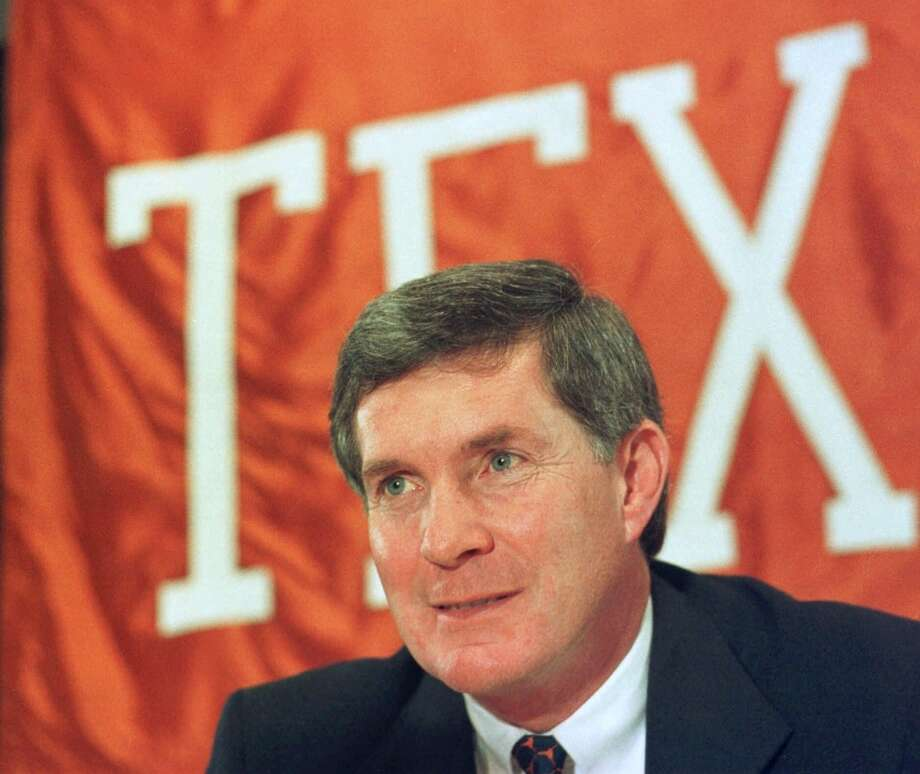 Texas hired Mack Brown as its 28th head football coach in Dec. 1997. Photo: Harry Cabluck, Associated Press