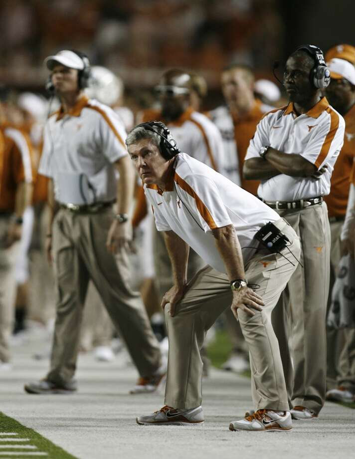 2011 season  The Longhorns went 8-5 and defeated California in the Holiday Bowl. Photo: Erich Schlegel, Getty Images