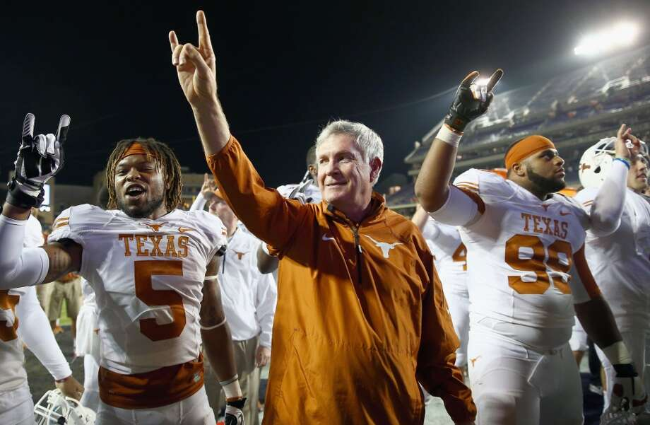 2013 season  The Longhorns dropped to 8-4 after falling to Baylor in the season finale and missing out on a chance to win the Big 12. Photo: Tom Pennington, Getty Images