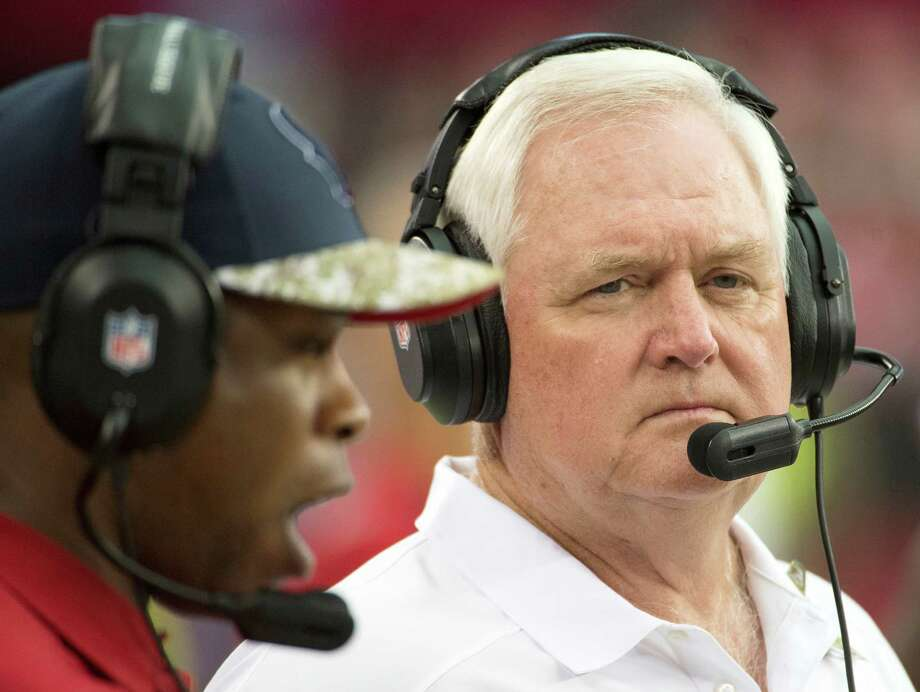 Houston Texans defensive coordinator Wade Phillips watches from the sidelines during the first half of an NFL football game at University of Phoenix Stadium on Sunday, Nov. 10, 2013, in Glendale, Ariz. Phillips will guide the Texans as interim head coach while Gary Kubiak recovers after he suffered a mini-stroke last week. ( Smiley N. Pool / Houston Chronicle ) Photo: Smiley N. Pool, Staff / © 2013  Houston Chronicle