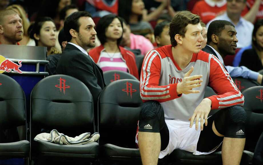 Omer Asik has found himself in limbo while the Rockets seek out a trade that will appease the disgruntled backup center. Photo: Scott Halleran, Staff / 2013 Getty Images