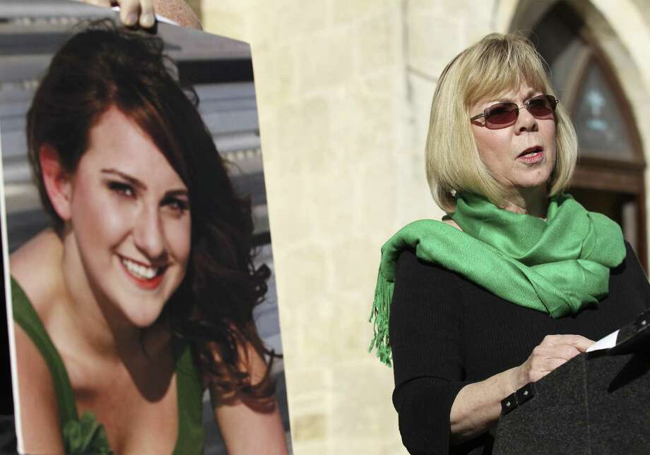 In the years since her daughter, Jessica Redfield Ghawi, was killed during the Aurora theater shooting, Sandy Phillips has been speaking on gun violence. Photo: Kin Man Hui / San Antonio Express-News / ©2013 San Antonio Express-News