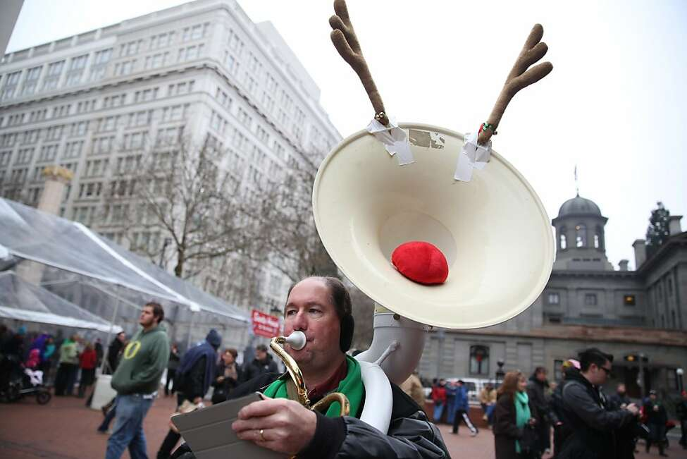 A 'TubaChristmas' callout for big brass