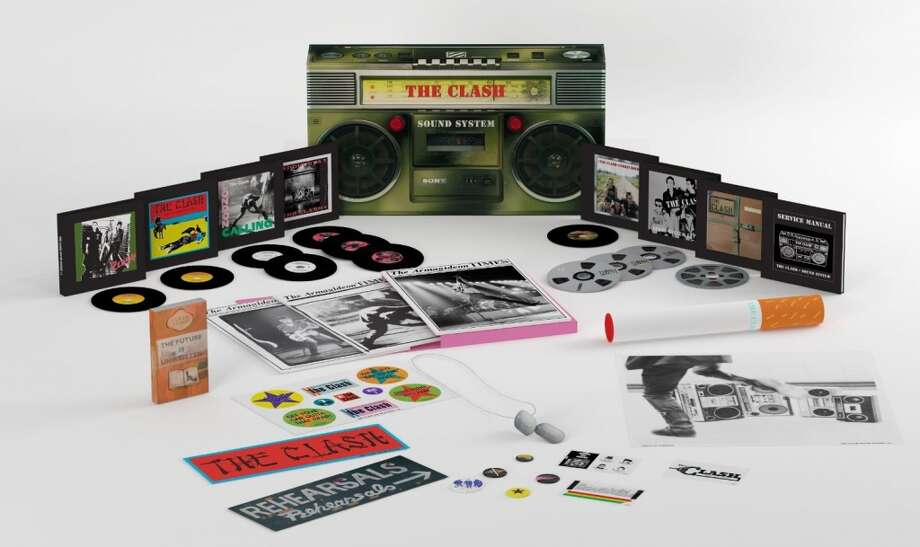 "The Clash ""Sound System"" (Legacy, $249.98) This box set has the look and feel of an old-school boom box. It weighs as much as one too. Inside is a treasure trove for fans of the Clash– every great (and not so great) album the original lineup released between 1977 and 1982, along with all the videos and studio scraps. There are also a handful of impeccably reproduced relics from the era: stickers, fanzines and dog collars. All that's missing is the D batteries."