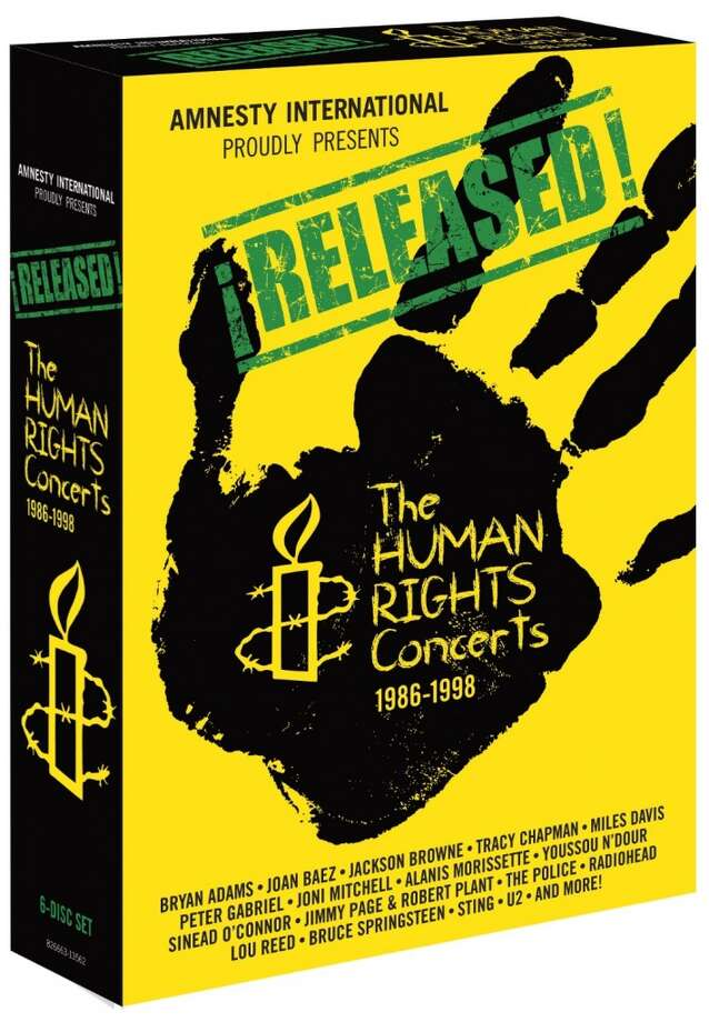 "Amnesty International, ""Released: The Human Rights Concerts"" (Shout! Factory) Footage from the four Amnesty International benefit concerts and tours that took place between 1986 and 1998 – featuring superstars like U2, Bruce Springsteen, Lou Reed, Sting, Miles Davis and many others – finally gets a properly produced and released. Spread over six DVDs, the live performances offer a glimpse at many of the artists involved operating at the peak of their powers and, better yet, tossing off once-in-a-lifetime collaborations."