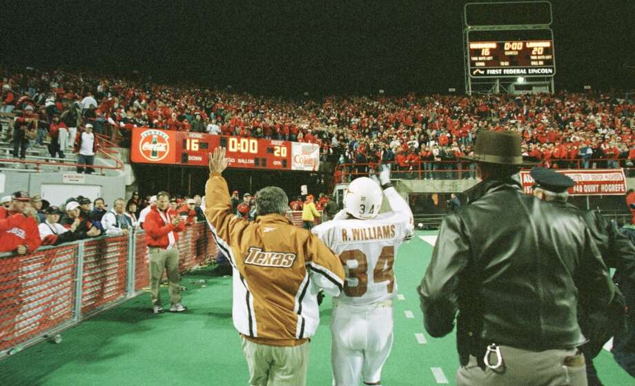 Texas 20, No. 7 Nebraska 16 Oct. 31, 1998  Brown's first win over a ranked opponent and the game that launched running back Ricky Williams toward the Heisman Trophy. Photo: D. Fahleson, Houston Chronicle