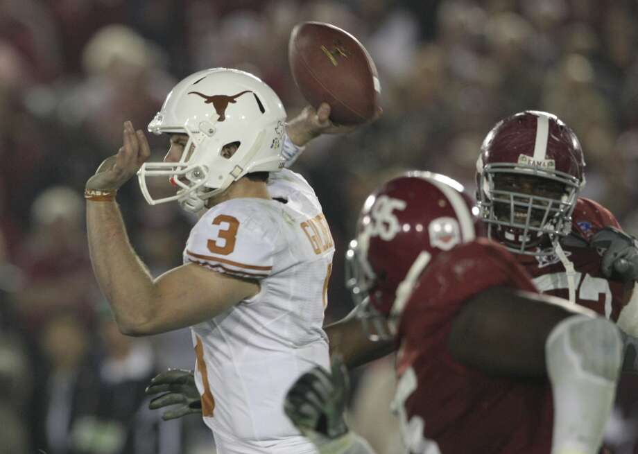 No. 1 Alabama 37, No. 2 Texas 21 Jan. 7, 2010 Quarterback Colt McCoy injured in the first quarter of the BCS title game. Texas loses chance for Brown's second national title. Photo: Tom Reel, San Antonio Express-News