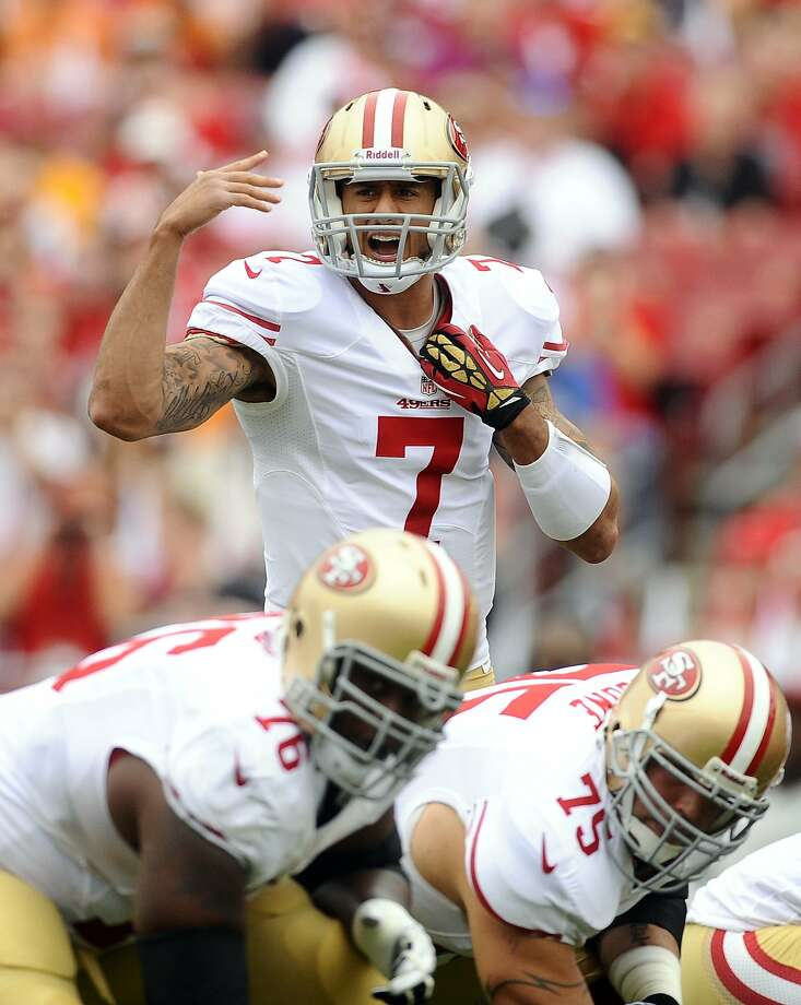 Colin Kaepernick and the offense must deal with the crowd noise if the 49ers are to triumph in the NFC Championship Game. Photo: Brian Blanco, Associated Press