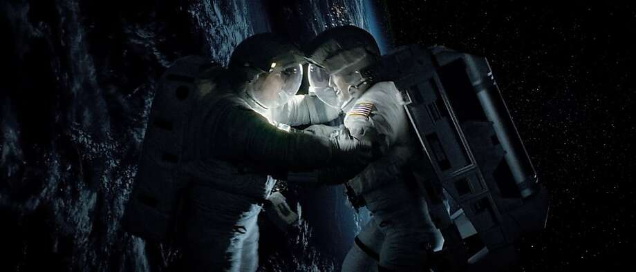 "George Clooney and Sandra Bullock in ""Gravity"": Masterful. Photo: Warner Bros."