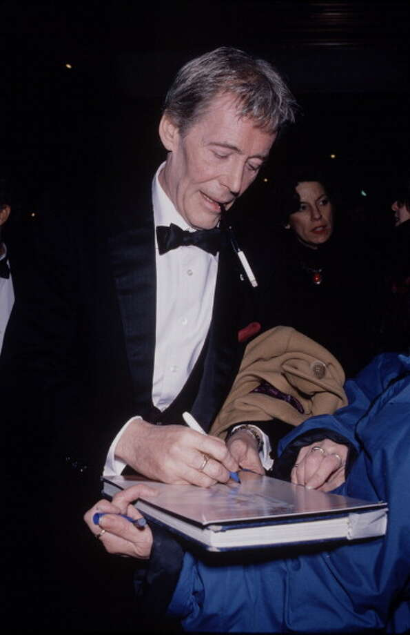 Actor Peter O'Toole attends the re-release of his movie 'Lawrence of Arabia' at the Ziegfeld Theatre, New York City, 4th February 1989.   (Photo by Time & Life Pictures/Getty Images) Photo: Time & Life Pictures, Time Life Pictures/Getty Images / Time & Life Pictures