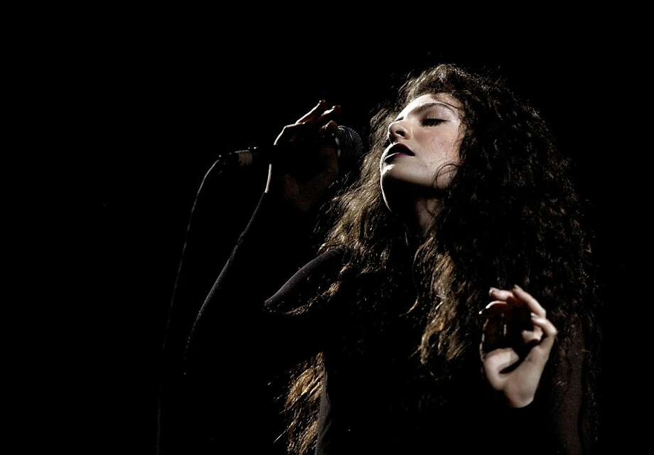 "Lorde was riding high on her smash-hit debut single, ""Royals,"" when she played the Fillmore on Sept. 27. Read the review. Photo: Kevin Winter, Getty Images For CBS Radio"
