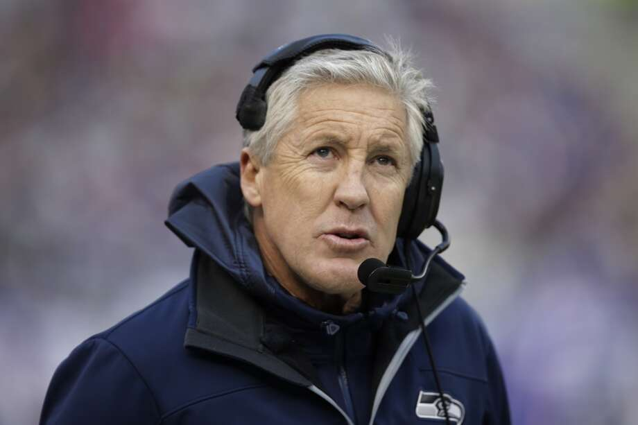 Seattle Seahawks head coach Pete Carroll looks on during the first half of an NFL football game against the New York Giants, Sunday, Dec. 15, 2013, in East Rutherford, N.J. (AP Photo/Kathy Willens) Photo: Kathy Willens, AP