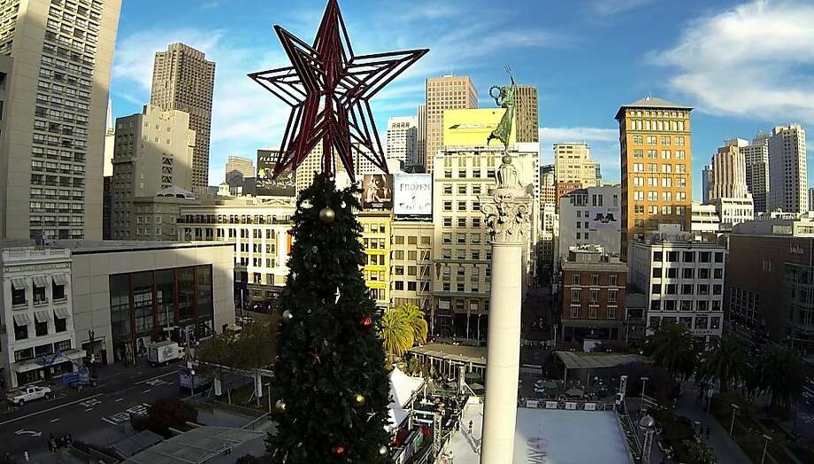 Heavy holiday spending on gifts and travel helps make this a great time for a new card. Picture: Union Square in San Francisco as seen from the top of the Macy's Christmas Tree in 2015. Photo: Mike Kepka, The Chronicle