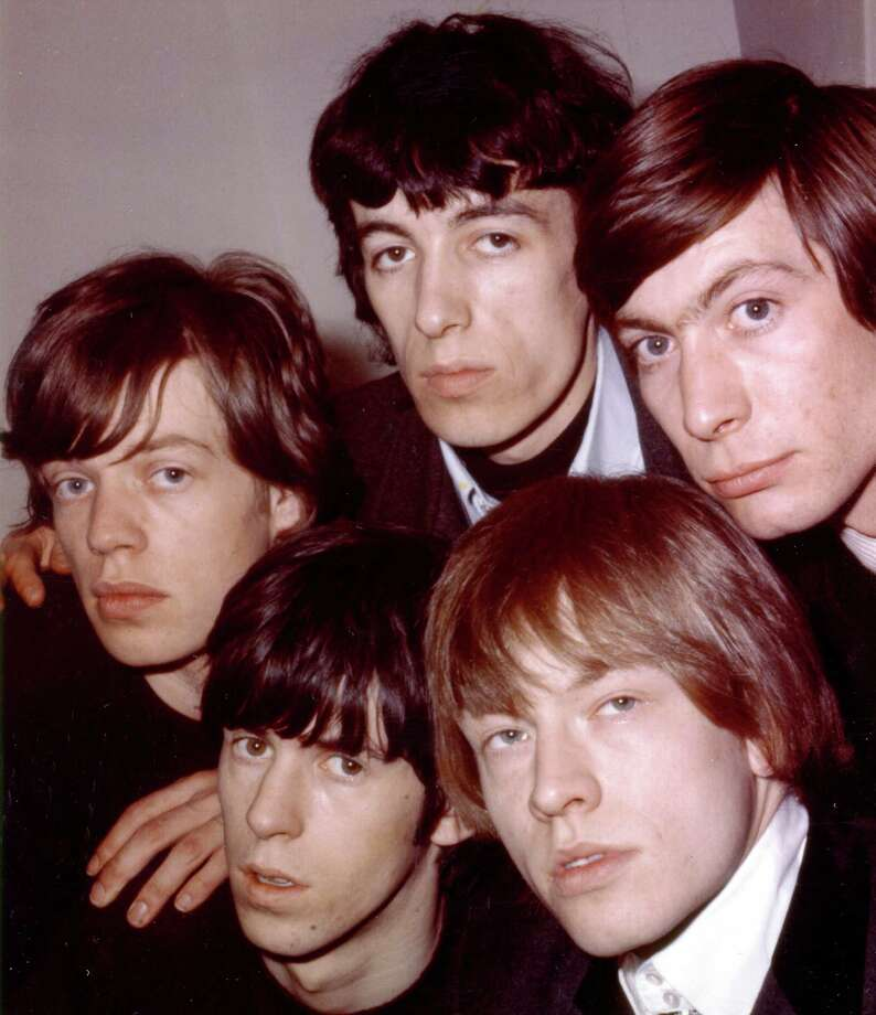 "1964:  Rock and roll band ""The Rolling Stones"" pose for a  portrait in 1964. (Clockwise from left) Mick Jagger, Bill Wyman, Charlie Watts, Brian Jones, Keith Richards. Photo: Michael Ochs Archives, Getty Images / Michael Ochs Archives"