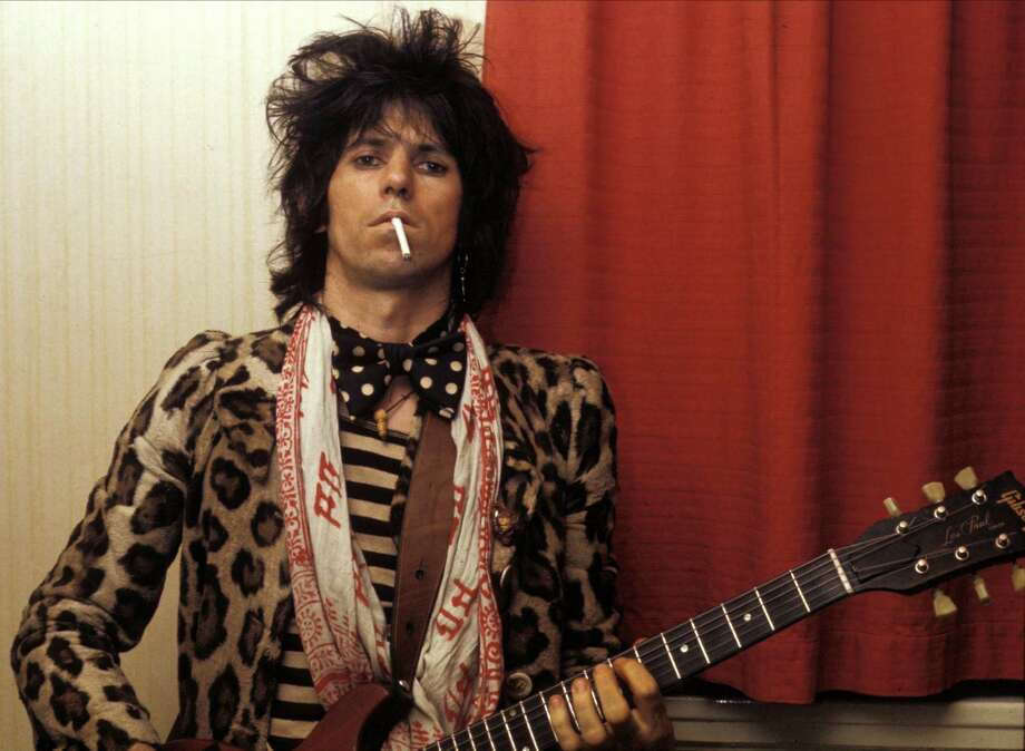 Rhythm guitarist Keith Richards of  the Rolling Stones. Photo: Graham Wiltshire, Getty Images / Hulton Archive