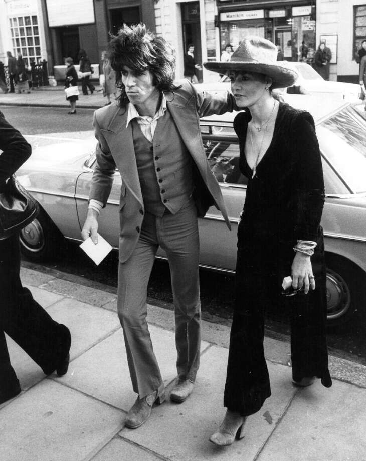 Keith Richards, 32 year old guitarist with rock group the Rolling Stones, and the last bachelor of the band, and Anita Pallenberg, who are to marry in London. The couple have already had three children. Photo: Wesley, Getty Images / Hulton Archive