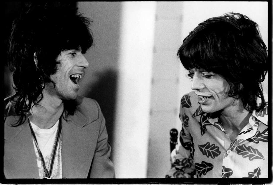 Guitarist Keith Richards and singer Mick Jagger of the Rolling Stones in Amsterdam, Netherlands on October 12, 1973. Photo: Michael Putland, Getty Images / 2011 Getty Images