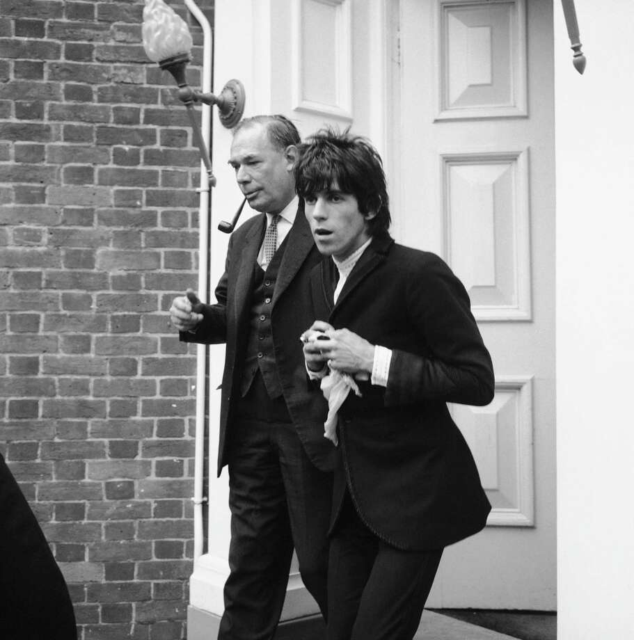 Rolling Stones guitarist Keith Richards in Chichester where he was sentenced in court to one years imprisonment for allowing cannabis to be smoked on his premises, 29th June 1967. Photo: Ted West, Getty Images / 2006 Getty Images