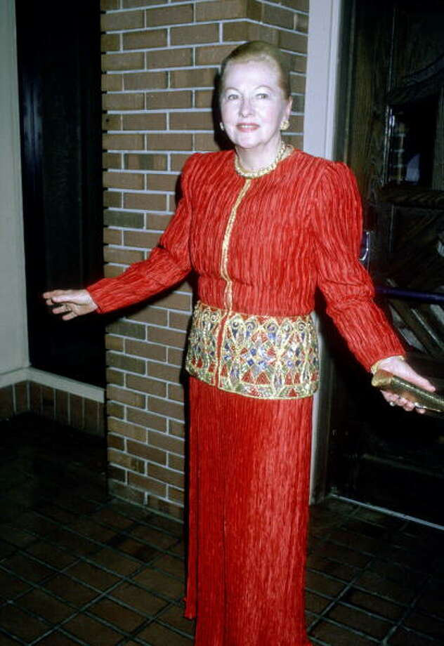 1988:  Joan Fontaine (Photo by Ron Galella/WireImage) Photo: Ron Galella, WireImage / ?2003 All Rights Reserved