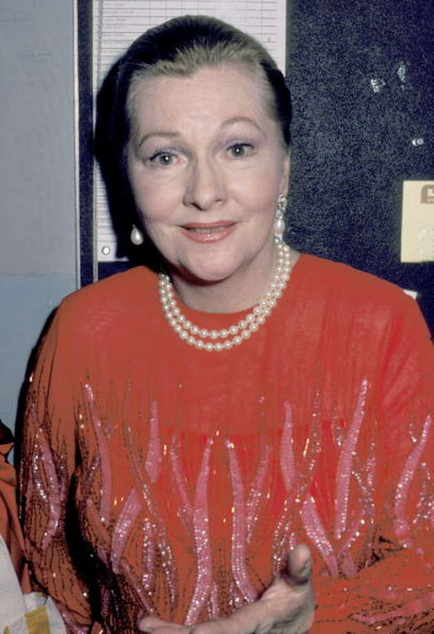 "1984: Joan Fontaine during ""Legends and Show Stoppers"" Benefit at Shubert Theater in New York City, New York, United States. (Photo by Ron Galella/WireImage) Photo: Ron Galella, WireImage / 2003 All Rights Reserved"