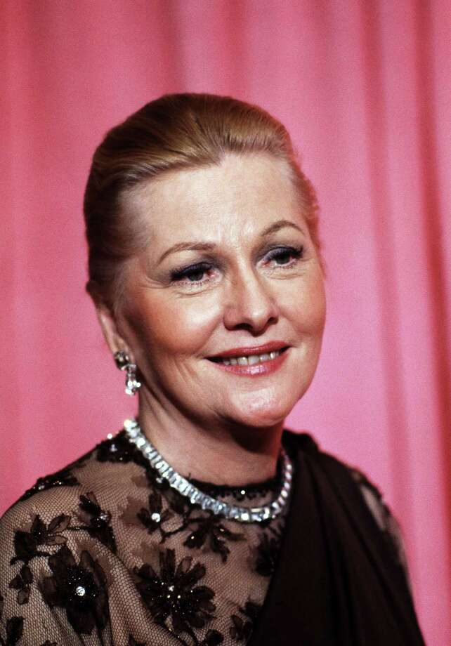 File- This April 3, 1978 file photo shows actress Joan Fontaine at the 50th Annual Academy Awards in Los Angeles. The Oscar-winning actres has died at the age of 96. Longtime friend Noel Beutel says she died in her sleep in her Carmel home Sunday, Dec. 15, 2013. (AP Photo/File) ORG XMIT: NY115 Photo: Anonymous / AP