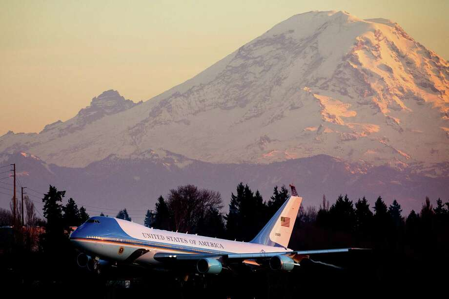 On November 24, 2013 President Barack Obama arrives at Sea-Tac International Airport aboard Air Force One to attend a pair of private Seattle-area fundraisers. Obama once again visited Seattle without making a public appearance for a population that overwhelmingly supported him both times he was elected as president. Photo: JORDAN STEAD, SEATTLEPI.COM / SEATTLEPI.COM