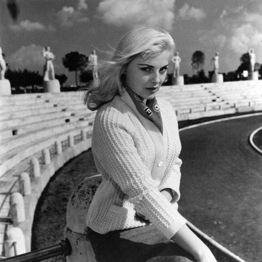 Italian actress Virna Lisi posing at the Stadio dei Marmi. Rome. Photo: Mondadori, Mondadori Via Getty Images